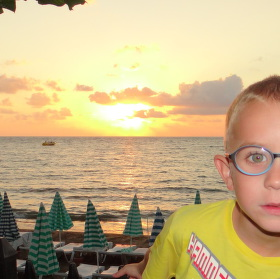 západ slunce z Adamem