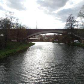 Řeka SVITAVA viadukt v Obřanech
