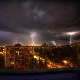 Bouřka nad Olomoucí