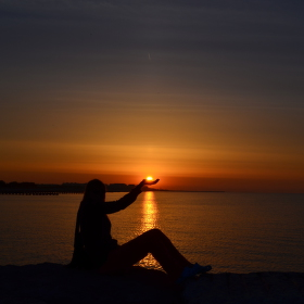 Východ slunce v Caorle