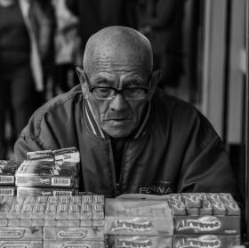 Old man in streets of Macau