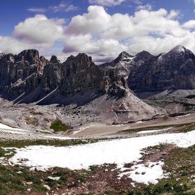 Výhled z Lagazuoi Piccolo