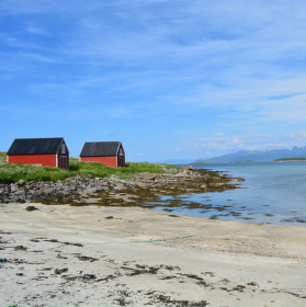 Písečná pláž na severu Norska