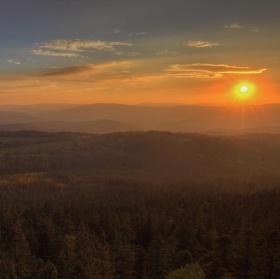 Podzimní podvečer na Šumavě