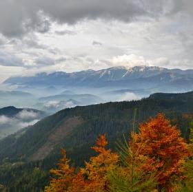 podzimní turistika v Alpách
