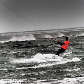 Hayling Island GB -  kitesurfing...............