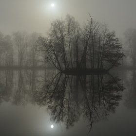ostruvek v mlhách
