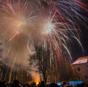Novoroční ohňostroj 2016 - Budyně nad Ohří