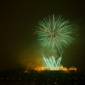 Novoroční ohňostroj Brno