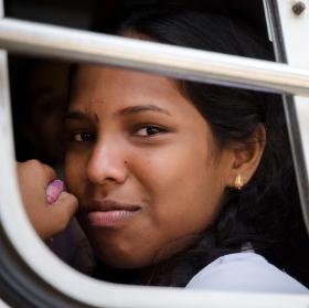 úsměv z autobusu