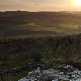 Západ slunce na Plešivci.