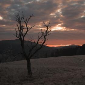 Východ slunce na Hrudkově