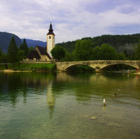 Slovinsko - Jezero Bohinj