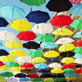 Deštníky v Brně