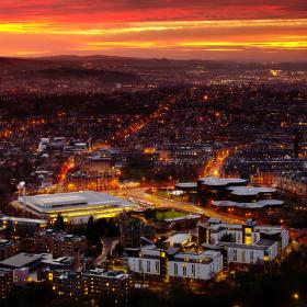 Edinburgh za soumraku