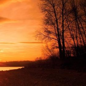 Kouzelný podvečer na přehradě...