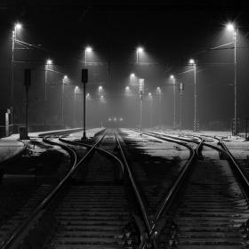 Noční nástupiště