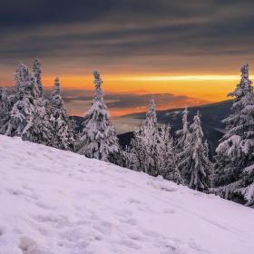Podvečer na horách