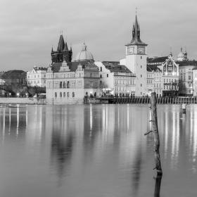 Praha ze Střeleckého ostrova