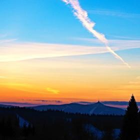 Ještštěd - západ slunce