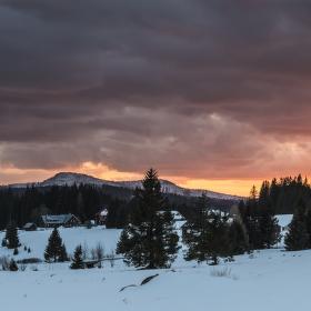 západ slunce nad Roklanem