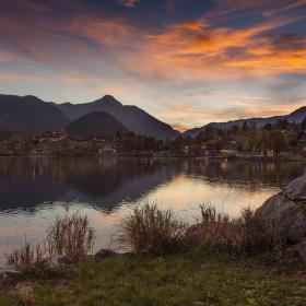 Večer u jezera grundlského