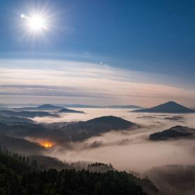 Měsíční krajina Českého Švýcarska