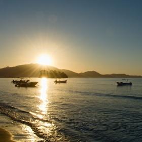 východ slunce nad Zakynthosem