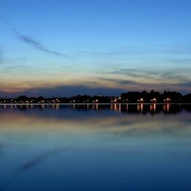 Pohled na večerní Pasohlávky