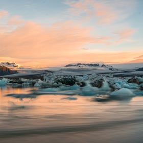 Večerní putování ledu ..
