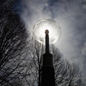 Slunce v lampě