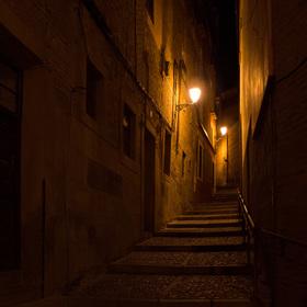 Noční ulička v Toledu