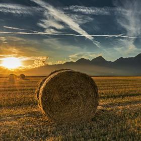 Západ nad Tatrami