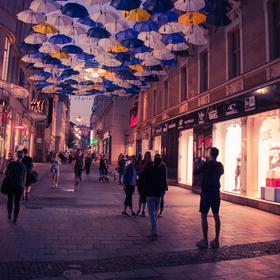Brněnské noční deštníky