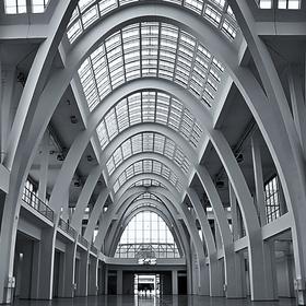 Interiér pavilonu A - areál BVV