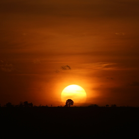 Západ slunce v Africe..