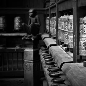 Hlídač modlitebních mlýnků