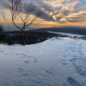 Západ slunce z Dečínského Sněžníku