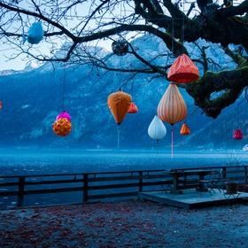 Lampiónky v podzimním mrazíku