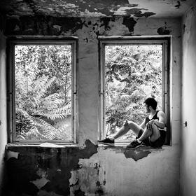 V okne
