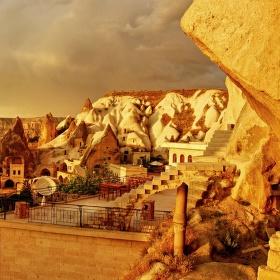 skalní město Geremestřední Turecko,