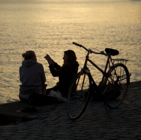 Cyklistka a fotografka