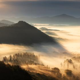 Podzimní ráno v Českém Švýcarsku