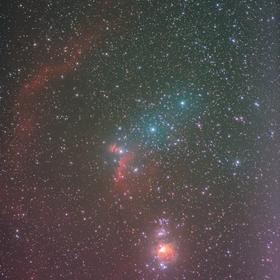Mlhoviny v Orionu
