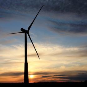 Estonská větrná - při západu
