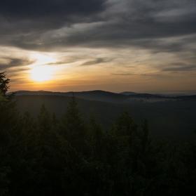 Koberštejnský západ slunce