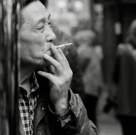 Chvíle klidu v rušném Šanghaji