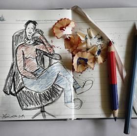 pastelka a tužka