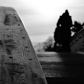 Lávka v parku Na Špici