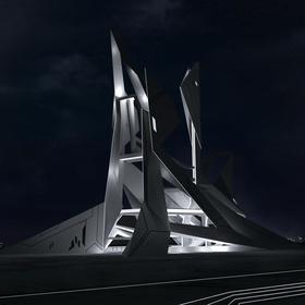 Futuristic/Sci-fi Architecture Concept Design (Futuristic networking center)